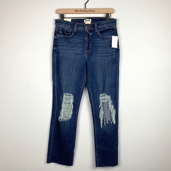 L'AGENCE Denim - L'AGENCE | Jordan Ripped Crop Bootcut Jeans SZ 28